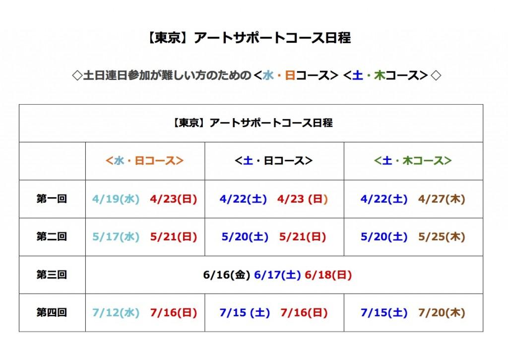 【東京】アートサポートコース日程について
