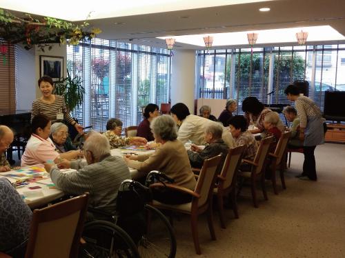 高齢者施設でのアートワーク